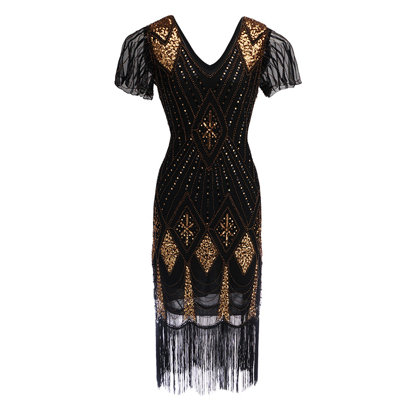 Ladies 1920s 20s Party Dress Flapper Costume Charleston Gatsby Party Outfit Fancy Dress Halloween Costume evening Dress