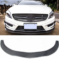 For Benz A Class W176 Carbon Fiber Front Bumper Lip Spoiler Fit For Benz A250 A45 AMG 2014 2015 2016
