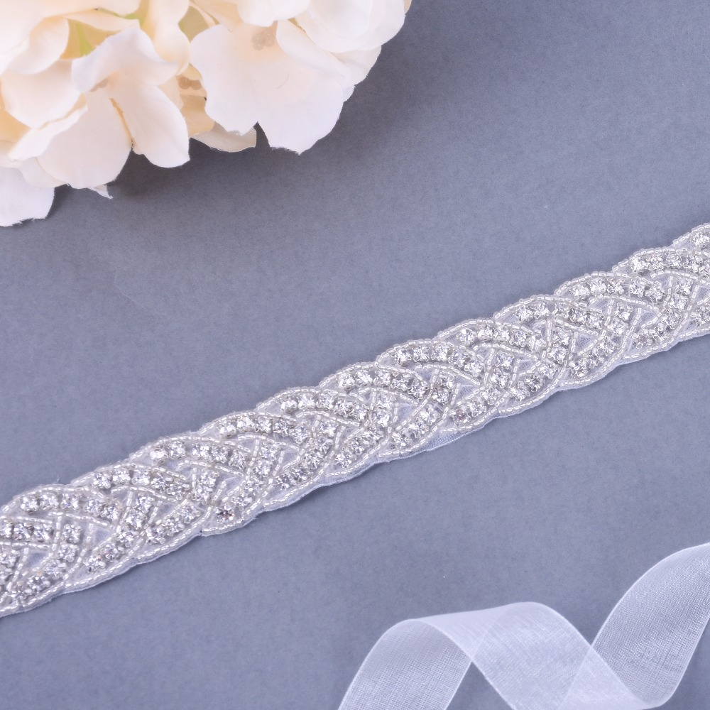 Free Shipping diamond belt Handmade Wedding Belt JY16F Rhinestones Bridal Sash for Dress Accessories Can Customize Any Size