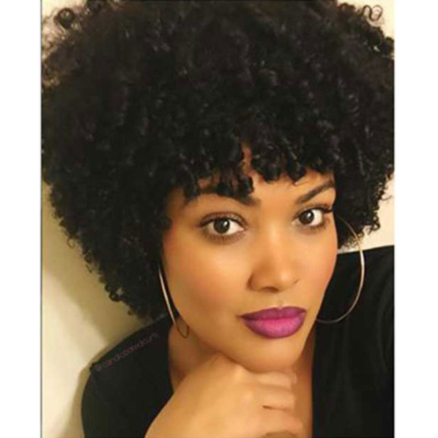 Natural Black Afro Wig Kinky Curly Short Hair Wigs For Black Women Cheap Wigs For African American Short Wigs For Black Women