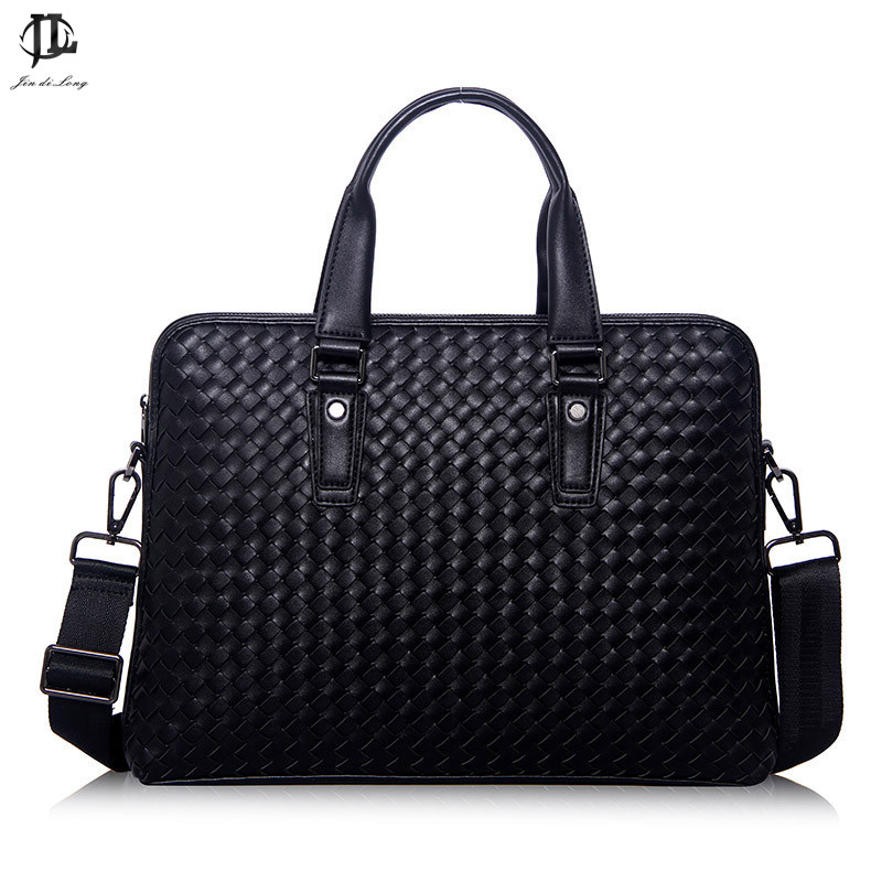 Genuine Luxury Brand Men Leather Briefcase Men Messenger Bags Casual Business Men Shoulder Laptop Bag Vintage Men Handbag