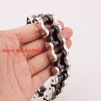 New Arrival 22mm Huge Stainless Steel Silver Black Mens Biker Bicycle Motorcycle Chain Males Bracelets & Bangles Cool Jewelry