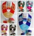Traje de las mujeres de Nigeria Perlas de Boda Perlas Africanas Joyería Conjunto de Cristal Tradicional Envío Libre BJN115