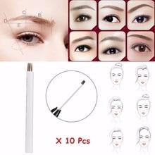 10Pcs Semi-Permanent 17 Round Tattoo Needle Makeup Eyebrow Tattoos Microblading Eyebrow Needles Blade