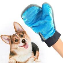 лучшая цена 2019 Glove For Cats Cat Grooming Pet Dog Hair Deshedding Brush Comb Glove For Pet Dog Finger Cleaning Massage Glove For Animal