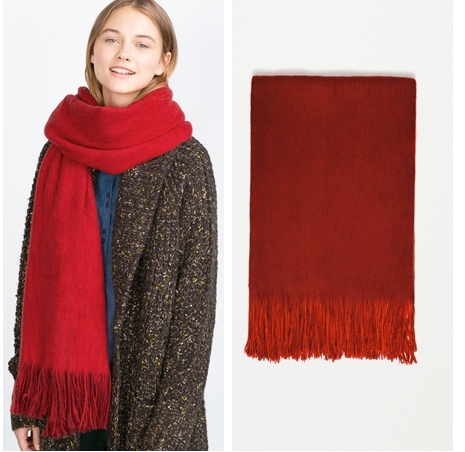 2017 New European Women 's scarf winter Luxury brand Cashmere scarves  Soft Comfortable thick warm tassel Double sided scarves