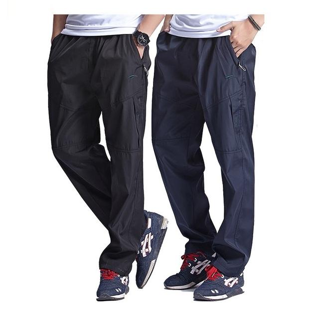 Grandwish invierno de lana de los hombres pantalones de cintura elástica de lana pantalones ocasionales de los hombres más tamaño 3xl ejercicio pantalones gruesos de los hombres, PA783