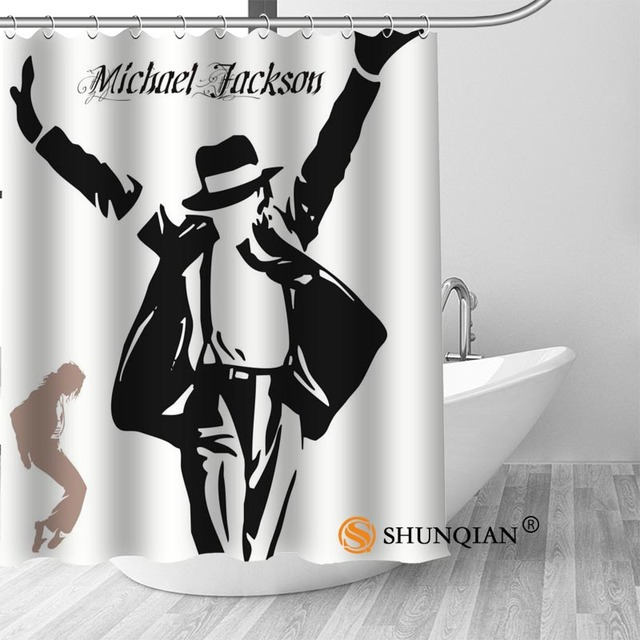 20 Michael jackson shower curtain washable thickened 5c64f7a44eda9
