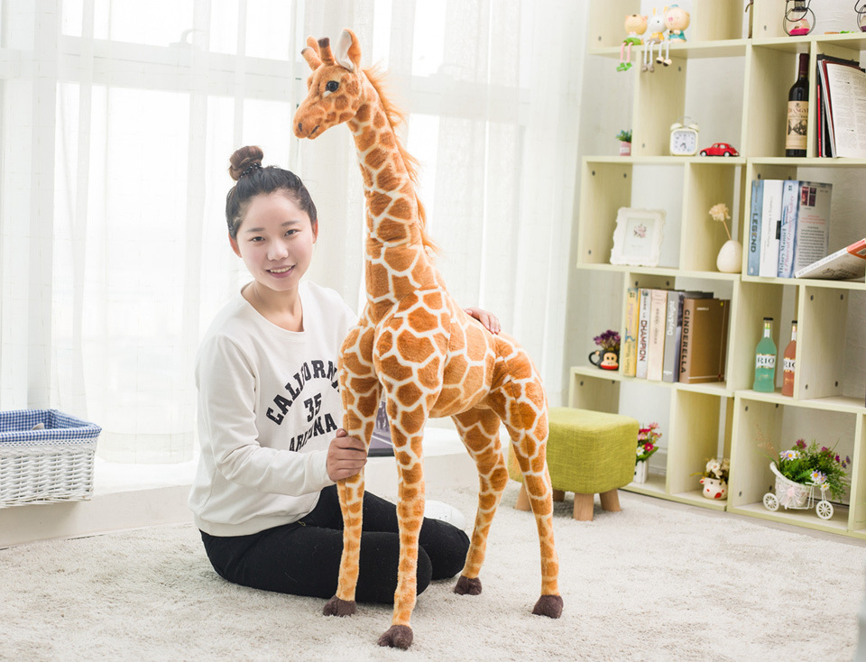 big plush simulation giraffe toy new creative standing giraffe doll gift about 115cm creative simulation plush soft fox naruto toy polyethylene