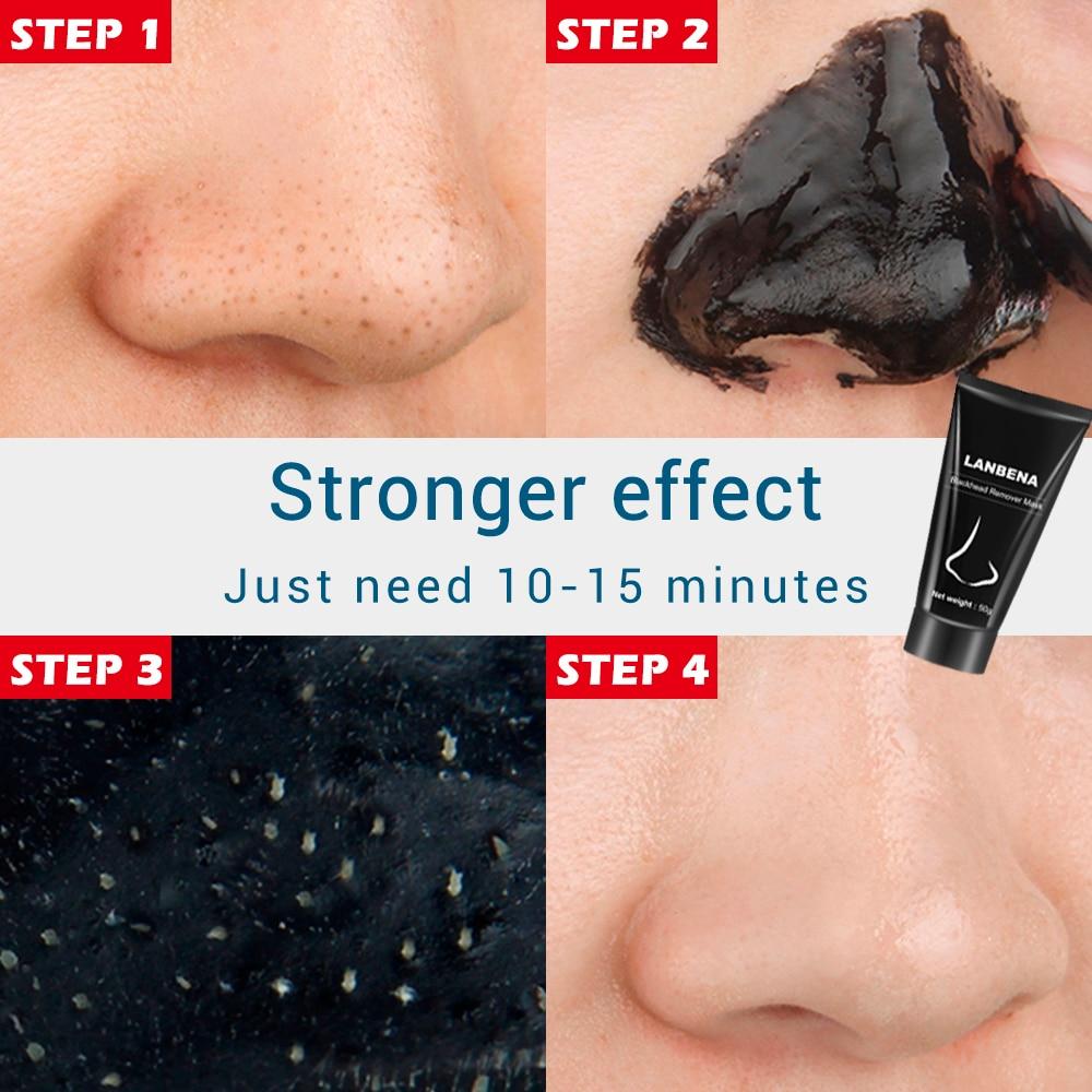 2018 LANBENA Blackhead Remover Nose Black Mask Face Care Mud Acne Treatment Peel off Mask Pore Strip Skin Care Peel Mask - 2
