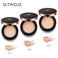 O.TWO.O Pressed Powder With Puff Face Powder Matte Oil-control Brighten Concealer Pressed Powder Whitening Face Makeup