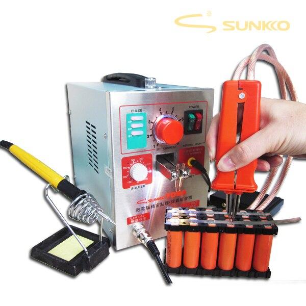 SUNKKO 3.2kw LED soudeuse par points de batterie d'impulsion, 709a, Machine de soudure par points pour la batterie 18650, soudure par points 220V EU, 110V US