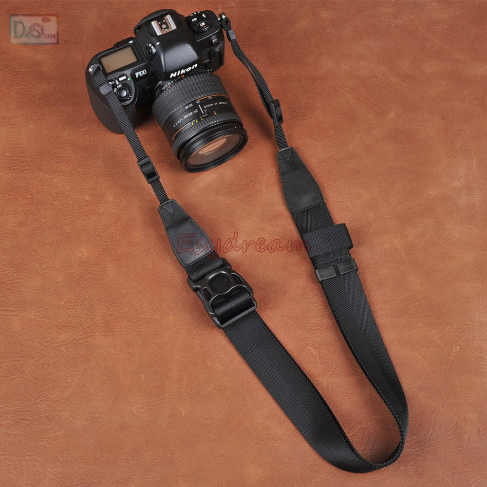 CAM-in Black Quick Sliding Shoulder Neck Strap 38mm For DSLR Camera Canon Nikon Sony Pentax цена и фото