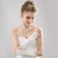 Модные женские сексуальные длинные перчатки для свадьбы, одежда для невесты T9300