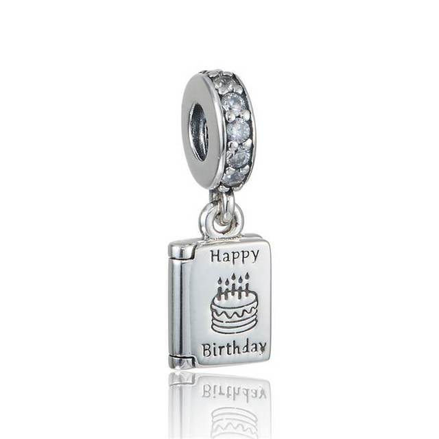 Birthday Wish Charm Pendant 925 Sterling Silver Charms Bead Happy