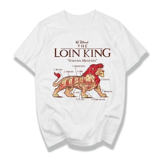 Hakuna Matata Kame פיל מבוגרים גברים נשים לא חולצה חולצת טריקו את מלך אריות צמרות & טיז שרוול קצר חולצת טי Slim Fit זכר בגדים