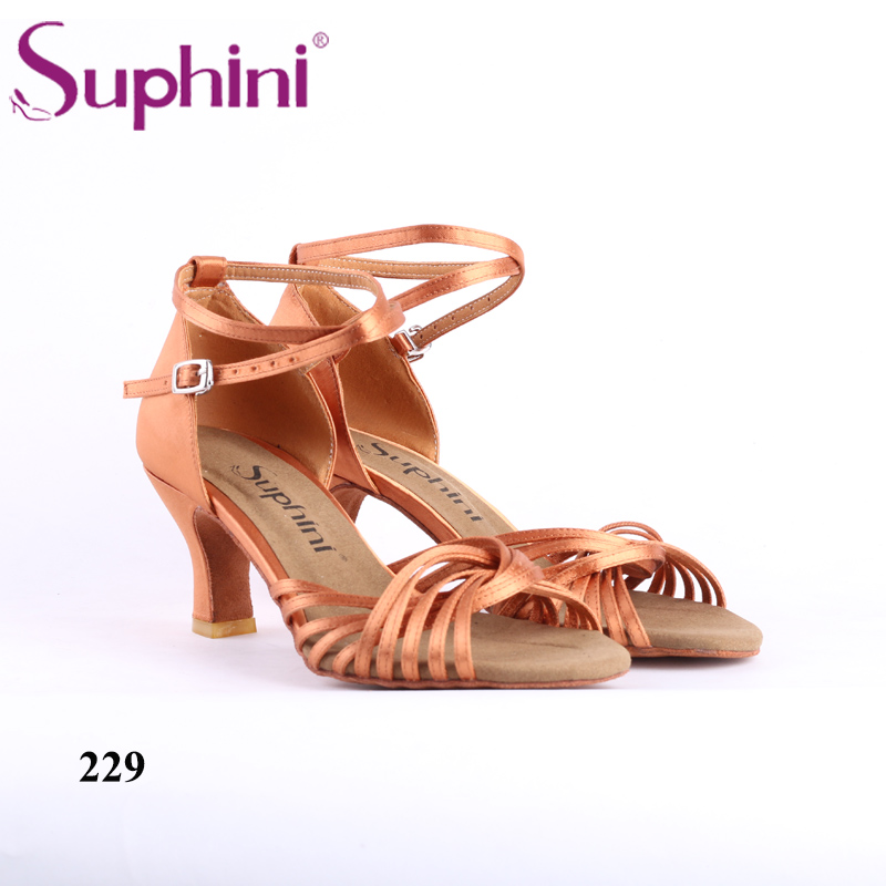Soft Sole Latin Woman Dance Shoes Practice Heel Latin Salsa Shoes Free Shipping