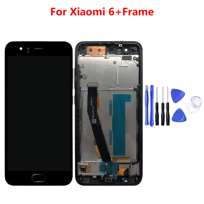 For Xiaomi Mi 6 Mi6 LCD Display With Touch Screen With Frame Digitizer Assembly NEW For 5.15 Xiaomi Mi6 LCD Replacement PartsFor Xiaomi Mi 6 Mi6 LCD Display With Touch Screen With Frame Digitizer Assembly NEW For 5.15 Xiaomi Mi6 LCD Replacement Parts