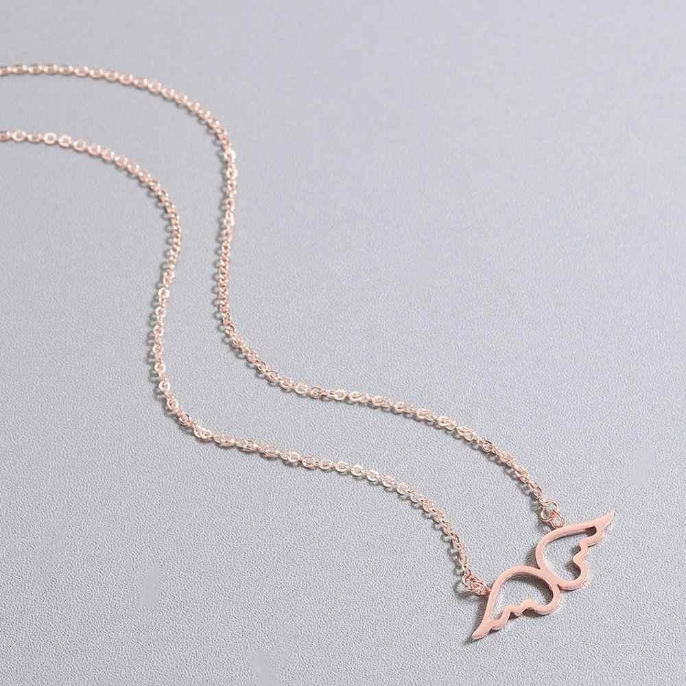 CHENGXUN น่ารัก Angel Wings สร้อยคอจี้ Gold Hollow น่ารักเครื่องประดับสำหรับหญิงสาวสร้อยคอของขวัญเด็ก
