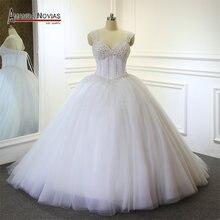 Amanda Chen Beaded Top Sweetheart Ball Gown Wedding Dress