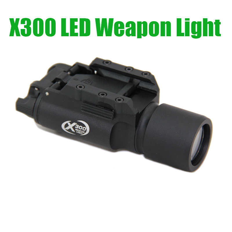 Tactical SF X300 Ultra High Output LED Weapon Light 400 lumens Flashlight Aluminium Alloy Construction Black