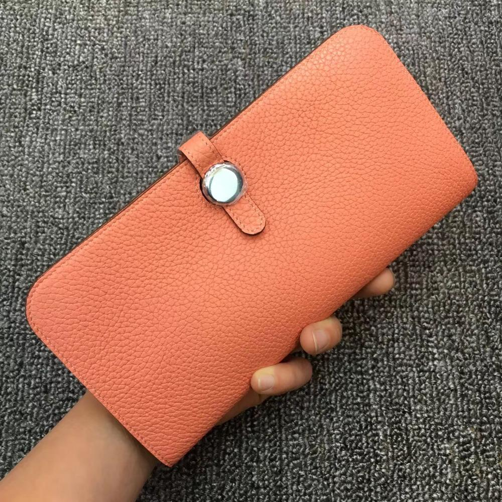 Kafunila 100% Real Leather Wallet Women Famous Brand Luxury Designer Wallets Ladies coin Purse Female Genuine Clutch