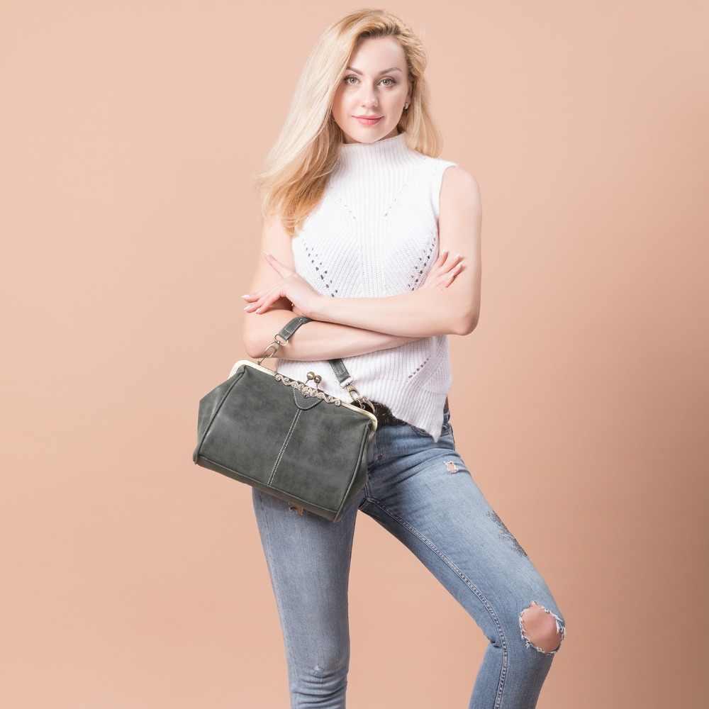 REALER сумка женская через плечо из искусственной кожи ретро женские сумки высокого качества небольшие клатчи Сумки мессенджер,маленькая дамская сумочка с ручкой,женский военный зеленый клатч,дамские сумки мешок