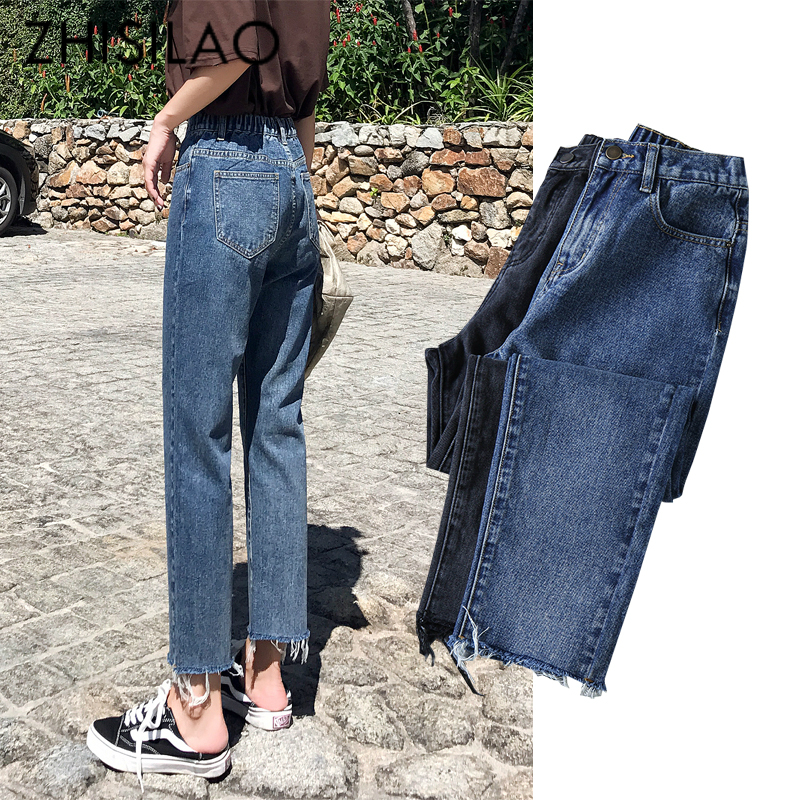 Denim Jeans Women 2019 Straight Jeans Boyfriends High Elastic Waist Jeans Pants Spring Summer Vintage Jeans Feminina Casual