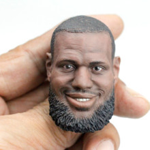 1:6 Scale LeBron James Head Sculpt W/Bearded Model For 12 Action Figure toy