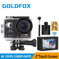 Goldfox Newest 4K Sport Action Camera 2 Touch Screen Go Waterproof Pro Full HD 1080P Sport