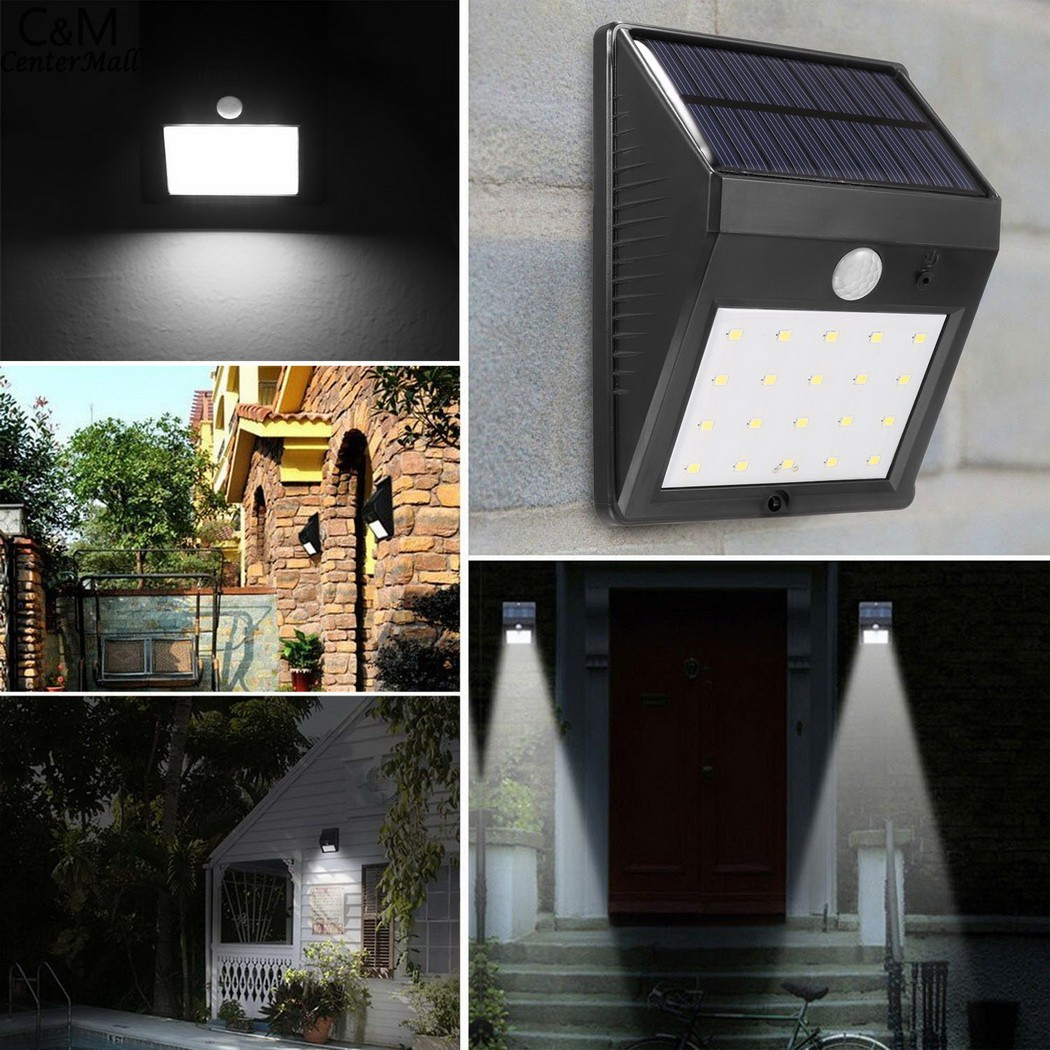 20led Waterproof Abs Solar Powered Motion Sensor Lamp Outdoor Garden Fence Landscape Lamp Stair Yard Light Wall Lamp Soft And Antislippery Security & Protection