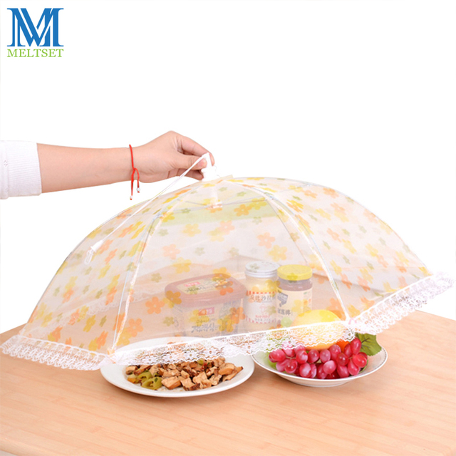Meltset Umbrella Food Cover Picnic Table Fly Mosquito Mesh Net Cover