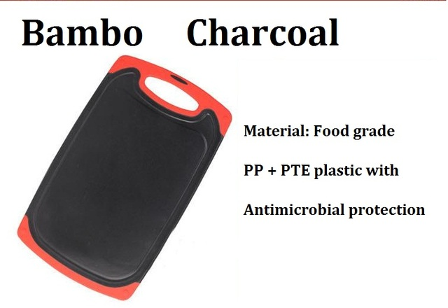 Free Ship wholesale 10pcs/lot  bamboo charcoal chopping blocks antimicrobial protection cutting board chopping board with groove