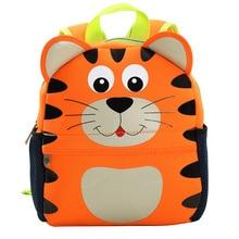 Cute 3D Cartoon Animals Tiger Toddler Kids School Bags Kinde