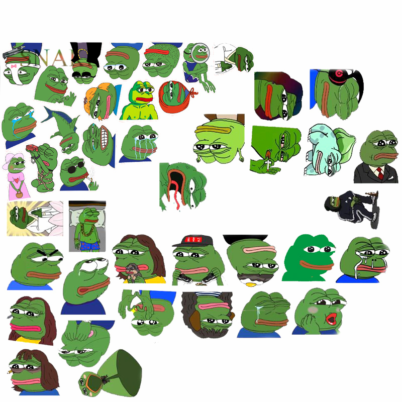 42Pcs/Lot Pepe Sad Frog Funny Sticker For Car Laptop Luggage Skateboard Motorcycle Snowboard Phone Decal Cartoon Toy Stickers