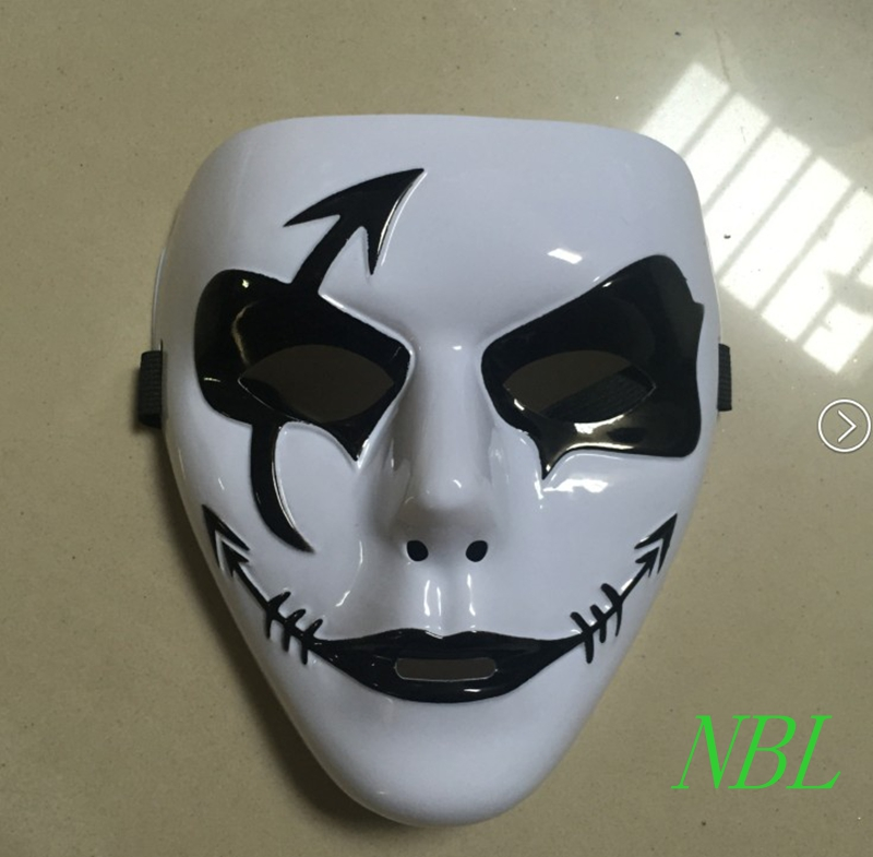 white quickstep pvc jabbawockeez mask hand painted hip hop female