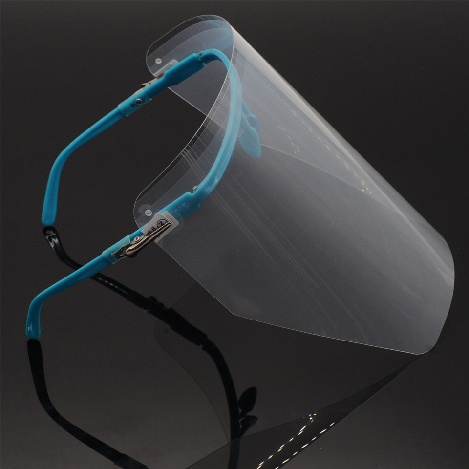 Dental Lab Adjustable Full Face Shield With CLEAR Detachable Visor Wear On Eyes For Dentistry Clinic