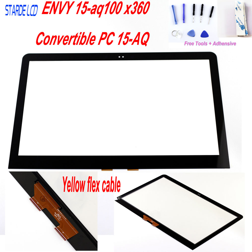 STARDE Replacement Touch For HP ENVY 15-aq100 x360 Convertible PC 15-AQ 15-AS Touch Screen Digitizer Sense 15.6STARDE Replacement Touch For HP ENVY 15-aq100 x360 Convertible PC 15-AQ 15-AS Touch Screen Digitizer Sense 15.6