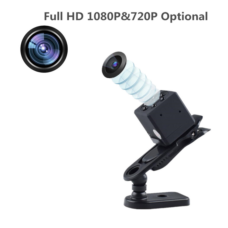 Mini Camera Full HD 1080P Sports Action Camera WiFi Video Camcorder with IR Night Vision Small Security Camera for Car Recording