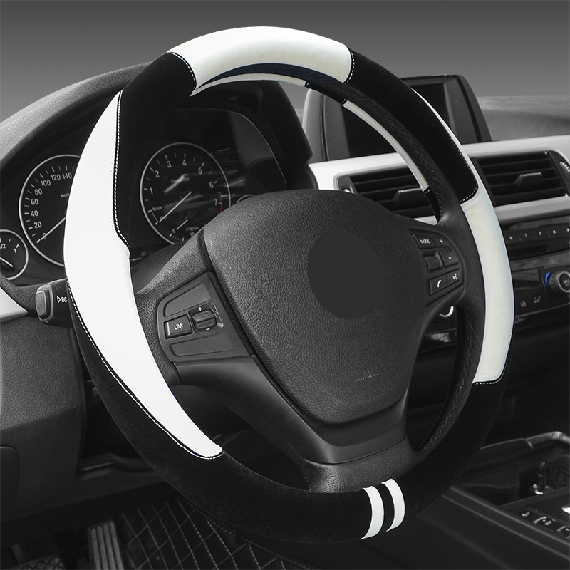 Plush Car Steering Wheel Cover Stylish Comfortable Soft Wheel Pad For Winter Univerral Car