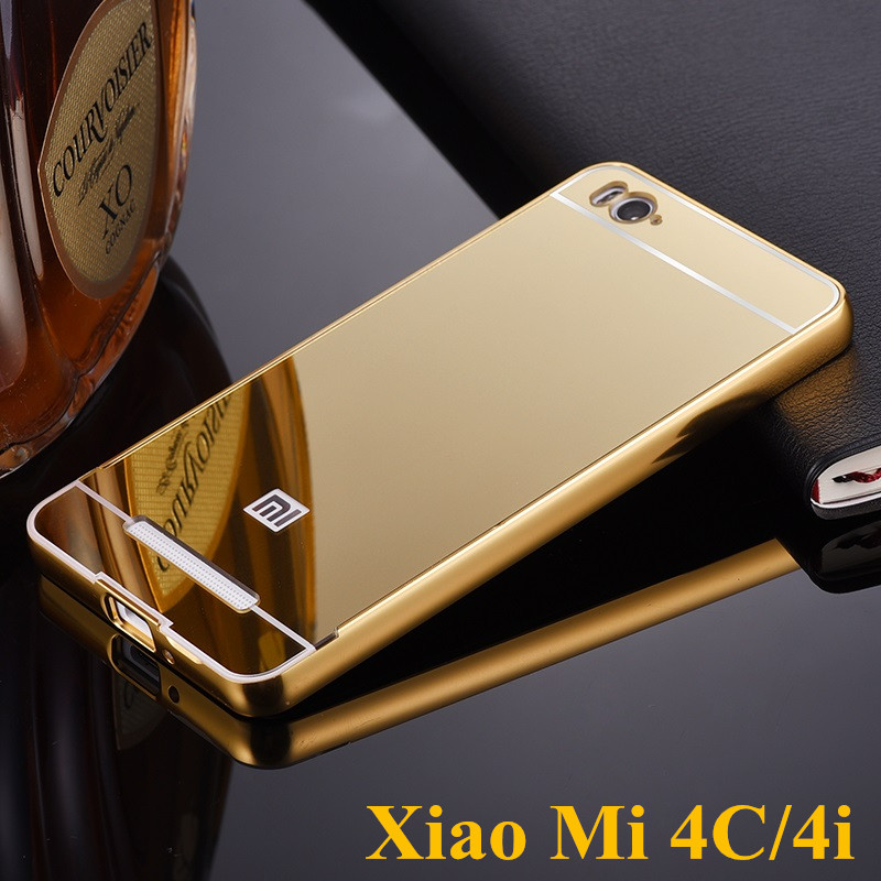 Gold plated aluminum metal frame and mirror pc back cover for Mirror xiaomi to pc