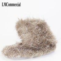 Indoor Slippers Special offer custom a warm winter home slippers thick hard bottom shoes on floor lovers shoes