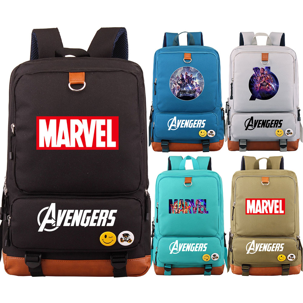 Superhero Thanos The Avengers Endgame Boy Girl School Bag Women Bagpack Teenagers Patchwork Canvas Men Student Laptop Backpack