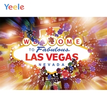 Yeele Welcome to Las Vegas Casino Personalized City Poster Photography Photographic Backgrounds Party Backdrops For Photo Studio las vegas casino city skyline night backdrop vinyl cloth high quality computer printed party photo studio background