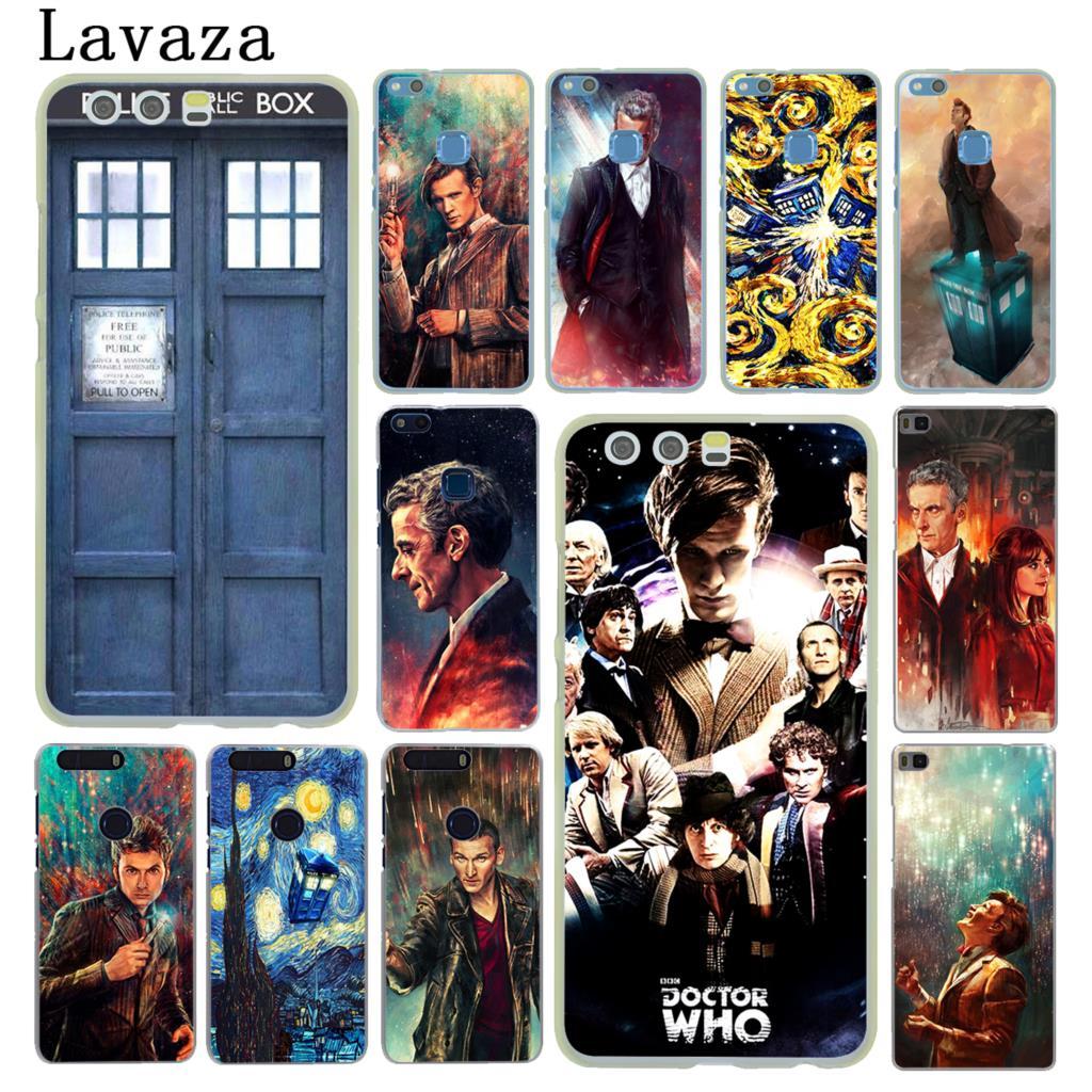 Lavaza Tardis Box Doctor Who Hard Cover Case for Huawei P20 P10 P9 Plus P8 Lite Mini 2015 2016 2017 P Smart & Mate 9 10 Lite Pro