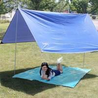 Oxford Cloth Waterproof Sunscreen OutdoortarpUltralight Sun Shelter Camping Mat Beach Tent Pergola Awning Canopy Tarp Camping
