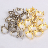 Sew on Rhinestone Drop water Claw set size 7*10, 10*14, 13*18, 18*25, 20*30 for Garment Accessories