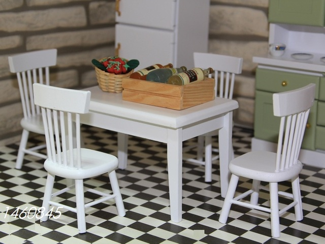 Houten Accessoires Keuken : Poppenhuis miniatuur meubels houten mini keuken meubels
