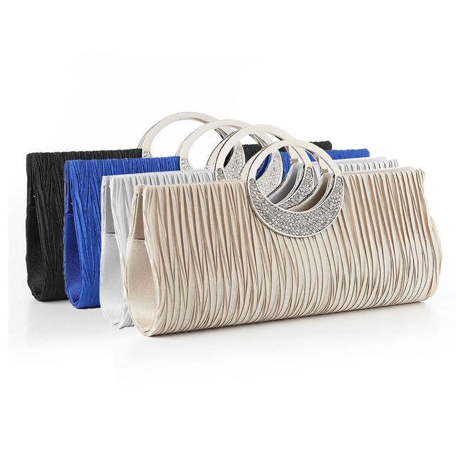 Osmond Women Clutch Lady Handbags Party Satin Bags High Quality Purse Wedding Clutch Female Evening Bags Handbags Bling Bling
