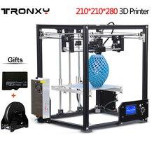 Бесплатная доставка DHL большую площадь печати 210*210*280 мм 3D принтер алюминия Структура нити 8 ГБ SD карты как подарок tronxy 3d принтер